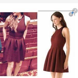 Alexander wang burgundy red fit flare scuba dress